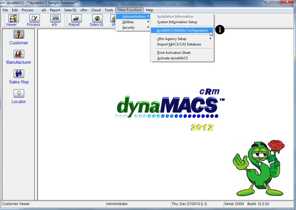 dynaMACS Main Screen